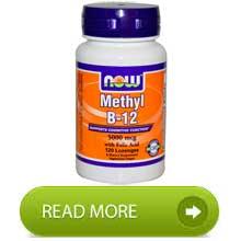 Now Vit b12 methyl 5000mcg with folic acid 120