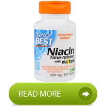 Doctors Best Niacin Time Released with Niaxtend 500mg 120 Tablets