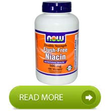 Now Foods Niacin Flush-Free Double Strength 500 mg 180 Vcaps